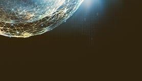Abstrakcjonistyczny futurystyczny tło na temacie technologie cyfrowe ilustracja wektor