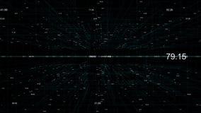 Abstrakcjonistyczny futurystyczny tło technologie informacyjne, cyfrowych dane kod ilustracja wektor