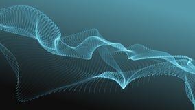 Abstrakcjonistyczny futurystyczny wzór cząsteczki macha bez przeszkód zdjęcie wideo