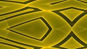 Abstrakcjonistyczny futurystyczny złoto barwił pustego astronautycznego tło z kolorowymi rozjarzonymi geometrycznymi kształtami ilustracji