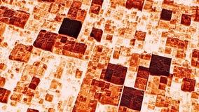 Abstrakcjonistyczny futurystyczny zmrok - czerwona kubiczna powierzchni 3D animaci pętla zbiory