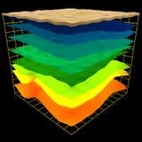 abstrakcjonistyczny geologii warstew plan Zdjęcia Royalty Free