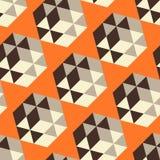 Abstrakcjonistyczny geometrical 3d tło bezszwowy royalty ilustracja