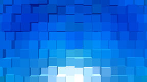 Abstrakcjonistyczny geometrical - geometria abstrakcjonistyczni sześciany Fotografia Royalty Free