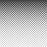 Abstrakcjonistyczny geometrical monochrom zaokrąglający kwadrata wzoru tło - wektorowa ilustracja z diagonalnymi kwadratami Zdjęcia Royalty Free