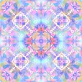 Abstrakcjonistyczny geometrical wzór, plamy różowy błękitny tło royalty ilustracja