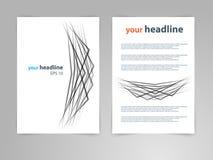 Abstrakcjonistyczny geometrycznego projekta szablonu układ dla magazynu, broszurka, ulotka, broszura, pokrywa, sprawozdanie roczn Fotografia Stock