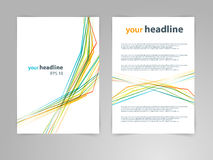 Abstrakcjonistyczny geometrycznego projekta szablonu wektorowy układ dla magazynu, broszurka, ulotka, broszura, pokrywa, sprawozd Zdjęcie Stock