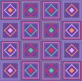 Abstrakcjonistyczny geometryczny bezszwowy ornamentacyjny wzór royalty ilustracja