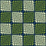 Abstrakcjonistyczny geometryczny bezszwowy tło falisty ilustracja wektor