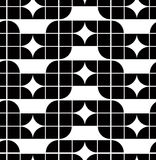Abstrakcjonistyczny geometryczny bezszwowy wzór, kontrast Obrazy Stock