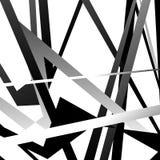 Abstrakcjonistyczny geometryczny czarny i biały wzór, tekstura z nasunięciem royalty ilustracja