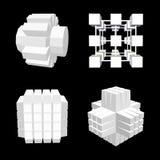 Abstrakcjonistyczny geometryczny 3d przedmiota set również zwrócić corel ilustracji wektora Obrazy Stock