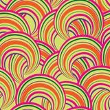 abstrakcjonistyczny geometryczny deseniowy bezszwowy Bąbla ornamentacyjny backgroun Obraz Stock