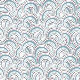 abstrakcjonistyczny geometryczny deseniowy bezszwowy Bąbla ornamentacyjny backgroun Fotografia Stock