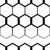 abstrakcjonistyczny geometryczny deseniowy bezszwowy Czarno biały postacie sześciokąty Zdjęcie Royalty Free