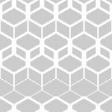 abstrakcjonistyczny geometryczny deseniowy bezszwowy Czarno biały postacie sześciokąty Fotografia Royalty Free