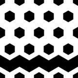 abstrakcjonistyczny geometryczny deseniowy bezszwowy Czarno biały postacie sześciokąty Fotografia Stock