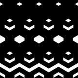 abstrakcjonistyczny geometryczny deseniowy bezszwowy Czarno biały postacie sześciokąty Zdjęcia Stock