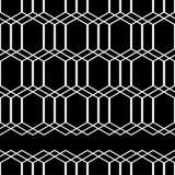abstrakcjonistyczny geometryczny deseniowy bezszwowy Czarno biały postacie sześciokąty Obrazy Royalty Free