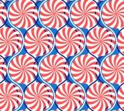 abstrakcjonistyczny geometryczny deseniowy bezszwowy Fala, promienieją i ruszać się po spirali ilustracja wektor
