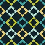 abstrakcjonistyczny geometryczny deseniowy bezszwowy Tekstura paski i rhombuses Obraz Royalty Free