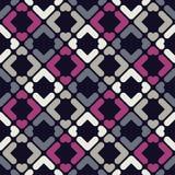 abstrakcjonistyczny geometryczny deseniowy bezszwowy Tekstura paski i rhombuses Fotografia Royalty Free