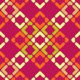 abstrakcjonistyczny geometryczny deseniowy bezszwowy Tekstura paski i rhombuses Obrazy Stock