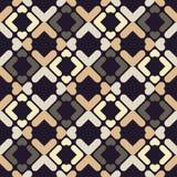 abstrakcjonistyczny geometryczny deseniowy bezszwowy Tekstura paski i rhombuses Zdjęcie Royalty Free