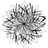 Abstrakcjonistyczny geometryczny element z nieregularnymi liniami Promieniowy distorte ilustracja wektor