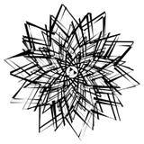 Abstrakcjonistyczny geometryczny element z nieregularnymi liniami Promieniowy distorte royalty ilustracja