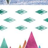 Abstrakcjonistyczny geometryczny góry tła projekt Geometryczni kształty z naturalną teksturą Retro etykietka projekt, printable Obrazy Royalty Free