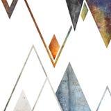 Abstrakcjonistyczny geometryczny góry tła projekt Geometryczni kształty z naturalną teksturą Retro etykietka projekt, printable Zdjęcia Royalty Free