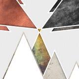 Abstrakcjonistyczny geometryczny góry tła projekt Geometryczni kształty z naturalną teksturą Retro etykietka projekt, printable Obraz Stock