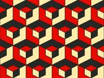 Abstrakcjonistyczny geometryczny isometric wektorowy bezszwowy wzór Obraz Stock