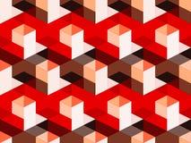Abstrakcjonistyczny geometryczny isometric wektorowy bezszwowy wzór Zdjęcia Royalty Free