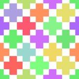 Abstrakcjonistyczny geometryczny kolorowy bezszwowy wzór Fotografia Royalty Free