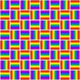 Abstrakcjonistyczny geometryczny kolorowy bezszwowy wzór Zdjęcie Stock