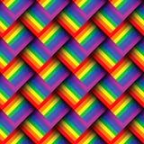Abstrakcjonistyczny geometryczny kolorowy bezszwowy wzór Obrazy Stock