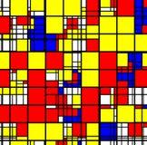 Abstrakcjonistyczny geometryczny kolorowy kwadrata wzór Zdjęcia Stock