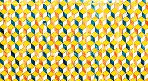 Abstrakcjonistyczny geometryczny kolorowy marokańczyk, Portugalskie płytki, Azulejo, Zdjęcia Royalty Free