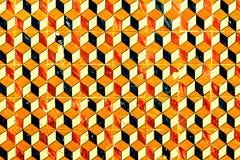 Abstrakcjonistyczny geometryczny kolorowy marokańczyk, Portugalskie płytki, Azulejo, Zdjęcie Royalty Free