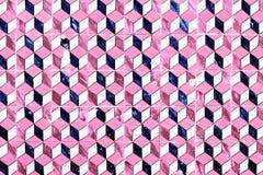 Abstrakcjonistyczny geometryczny kolorowy marokańczyk, Portugalskie płytki, Azulejo, Fotografia Royalty Free