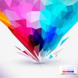 Abstrakcjonistyczny geometryczny kolorowy skład. ilustracja wektor