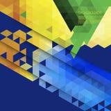 Abstrakcjonistyczny geometryczny kolorowy tło Obrazy Stock