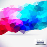 Abstrakcjonistyczny geometryczny kolorowy tło. Obrazy Stock