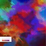 Abstrakcjonistyczny geometryczny kolorowy tło. Zdjęcie Royalty Free