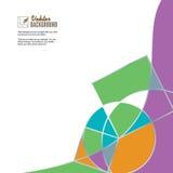 Abstrakcjonistyczny geometryczny kolorowy wektorowy tło ilustracji