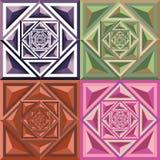 Abstrakcjonistyczny geometryczny koloru wzór ilustracja wektor