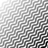 Abstrakcjonistyczny geometryczny monochromatyczny tło, faliste linie wektor royalty ilustracja
